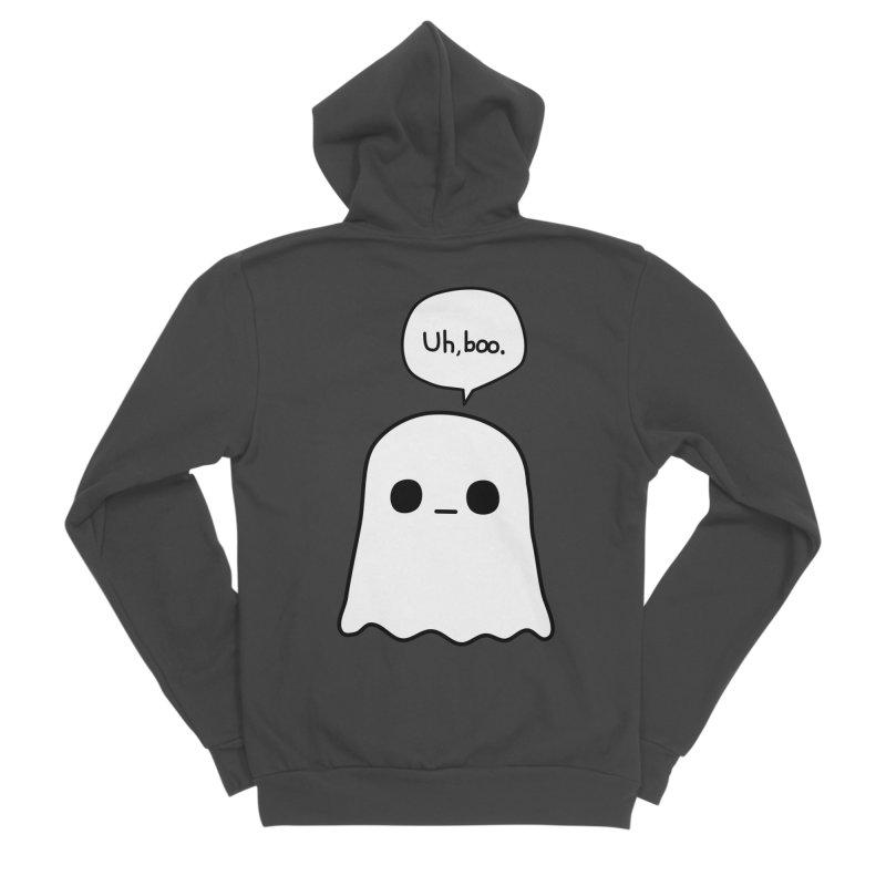 Awkward Ghost Men's Sponge Fleece Zip-Up Hoody by oneweirddude's Artist Shop