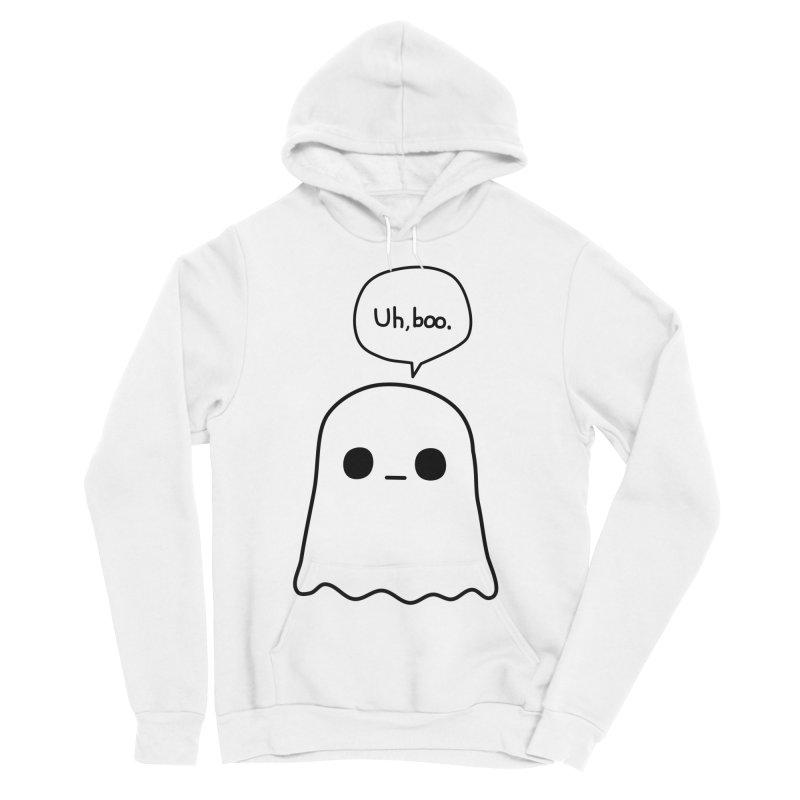 Awkward Ghost Men's Sponge Fleece Pullover Hoody by oneweirddude's Artist Shop