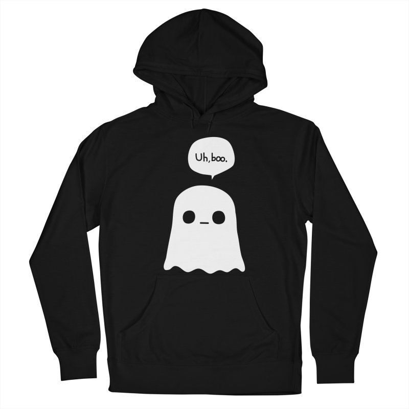 Awkward Ghost Men's French Terry Pullover Hoody by oneweirddude's Artist Shop