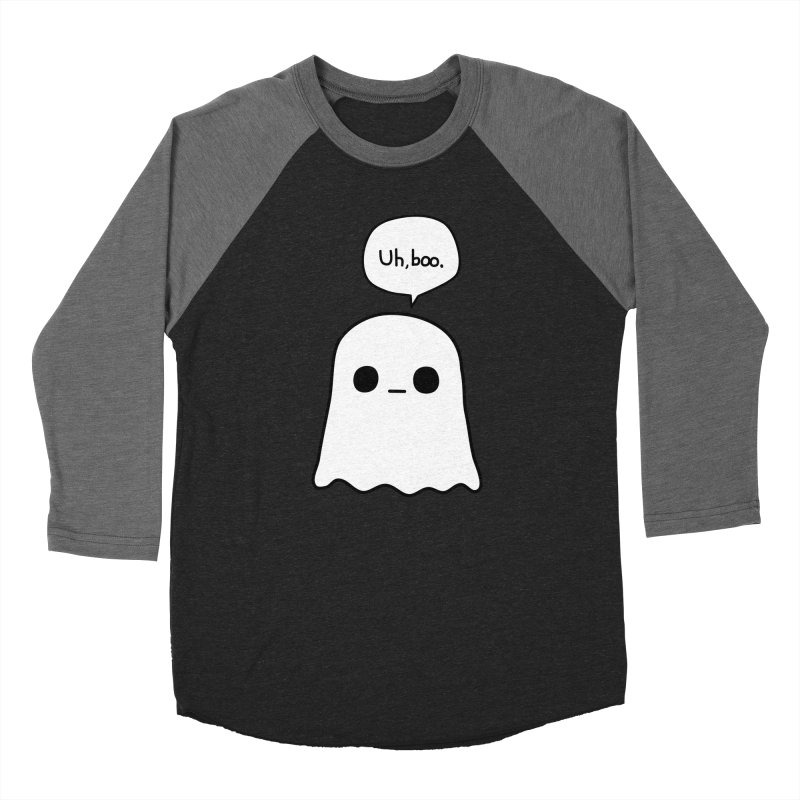 Awkward Ghost Men's Baseball Triblend Longsleeve T-Shirt by oneweirddude's Artist Shop