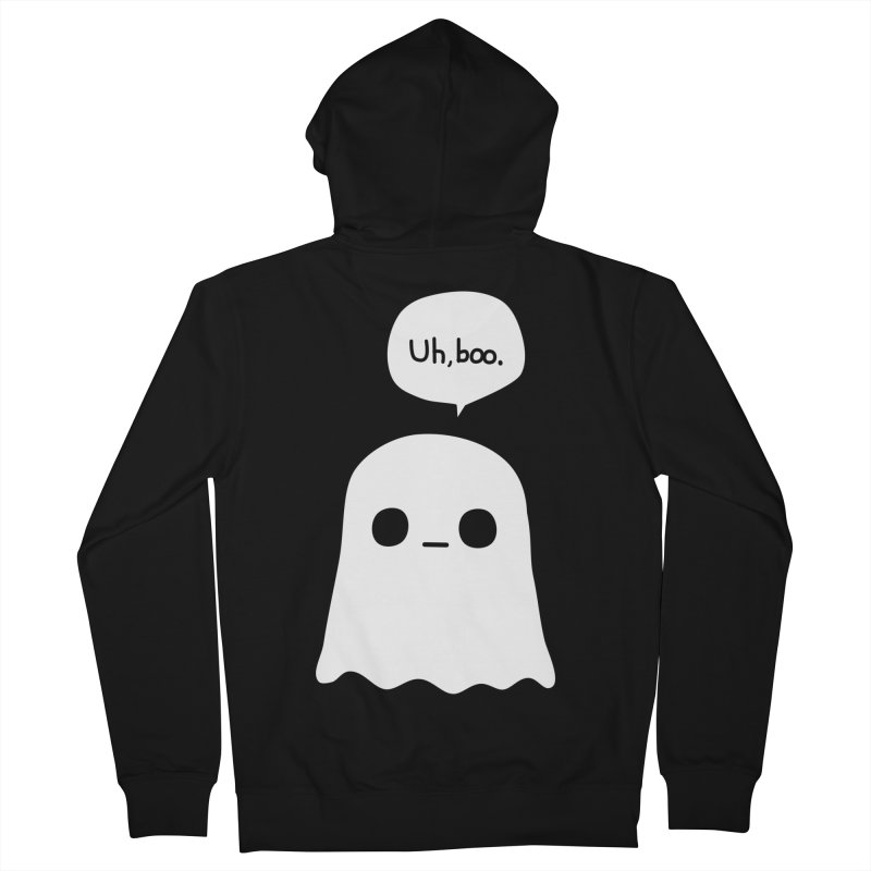 Awkward Ghost Men's French Terry Zip-Up Hoody by oneweirddude's Artist Shop