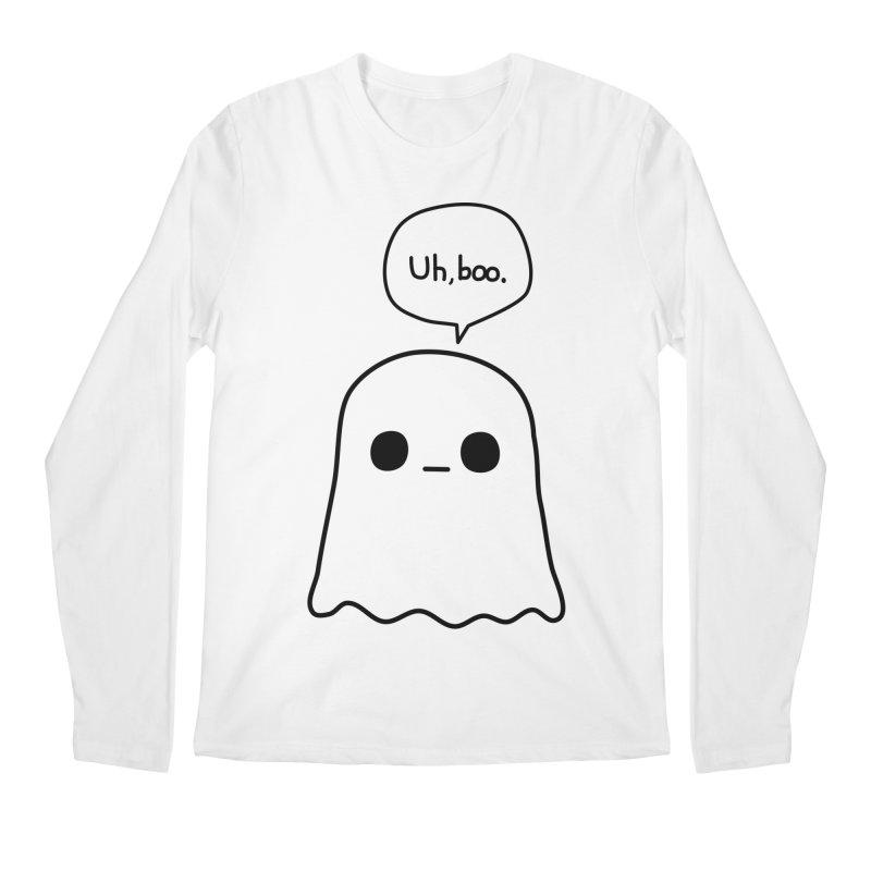 Awkward Ghost Men's Regular Longsleeve T-Shirt by oneweirddude's Artist Shop