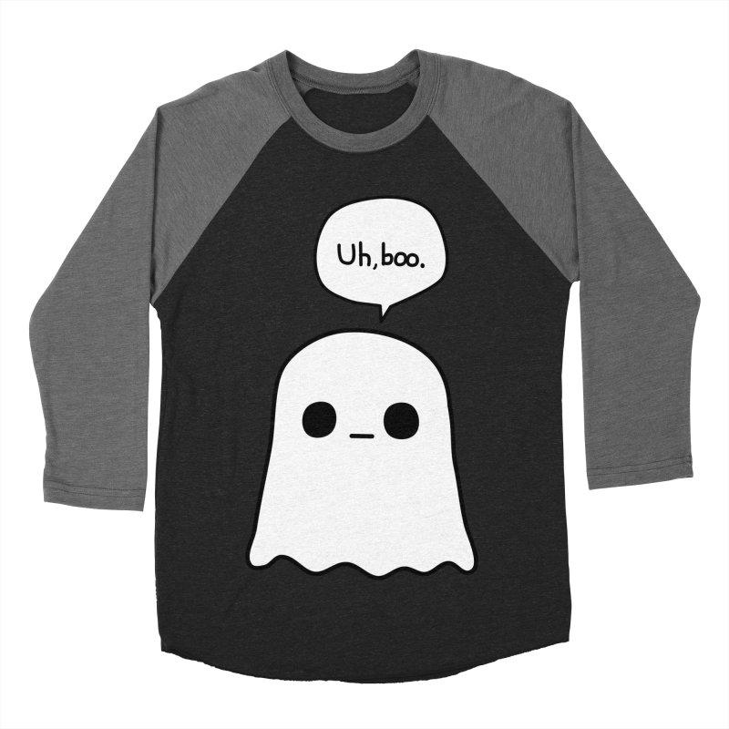 Awkward Ghost Men's Baseball Triblend Longsleeve T-Shirt by oneweirddude's Artist Shop