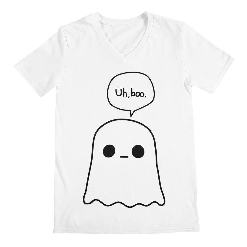 Awkward Ghost Men's Regular V-Neck by oneweirddude's Artist Shop