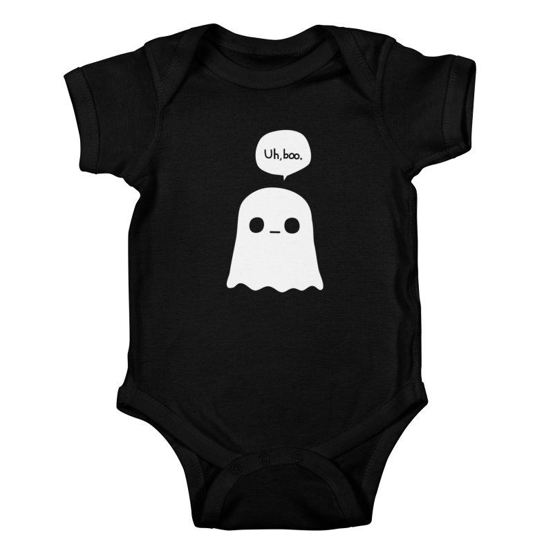 Awkward Ghost Kids Baby Bodysuit by oneweirddude's Artist Shop