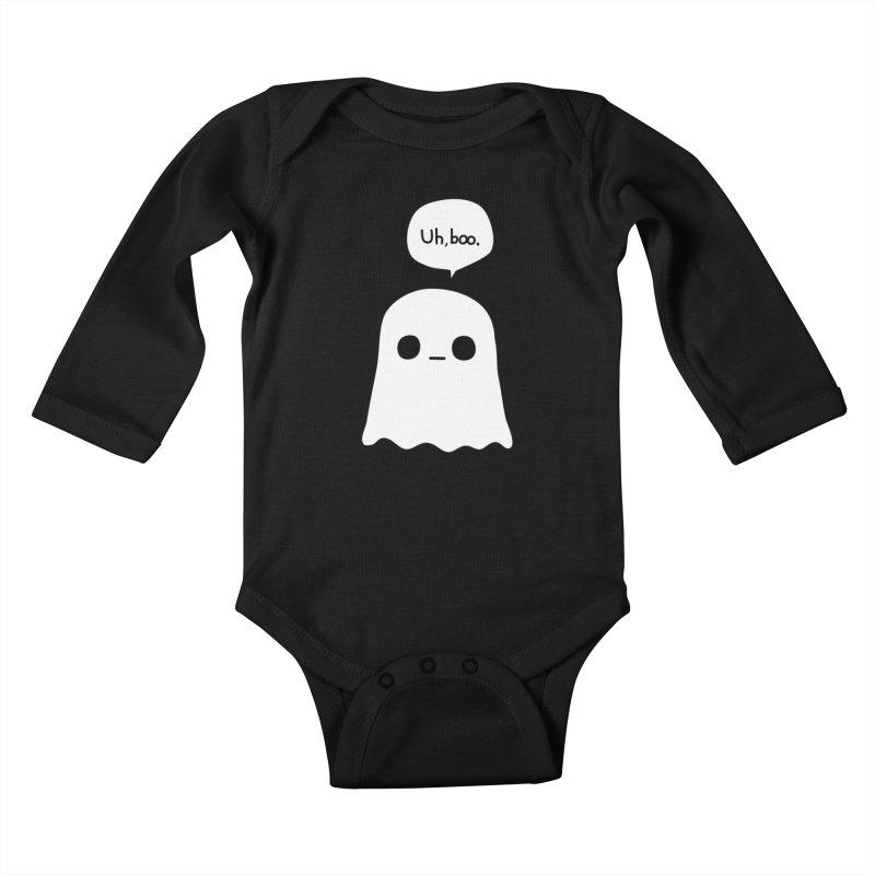 Awkward Ghost Kids Baby Longsleeve Bodysuit by oneweirddude's Artist Shop