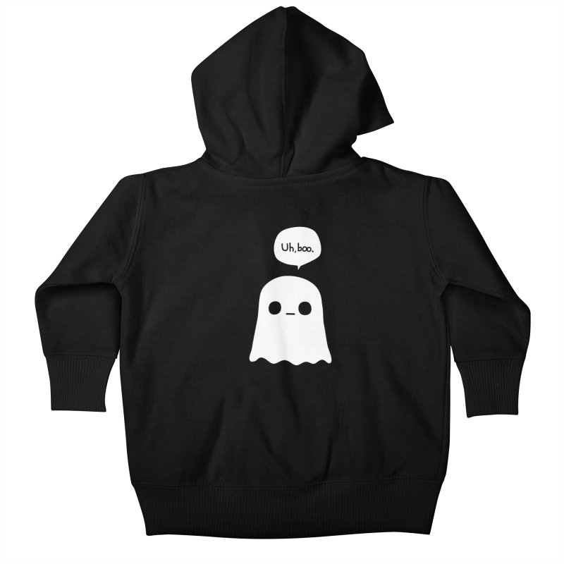 Awkward Ghost Kids Baby Zip-Up Hoody by oneweirddude's Artist Shop