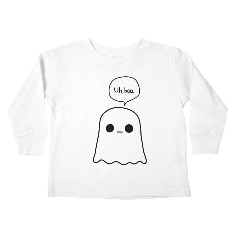 Awkward Ghost Kids Toddler Longsleeve T-Shirt by oneweirddude's Artist Shop