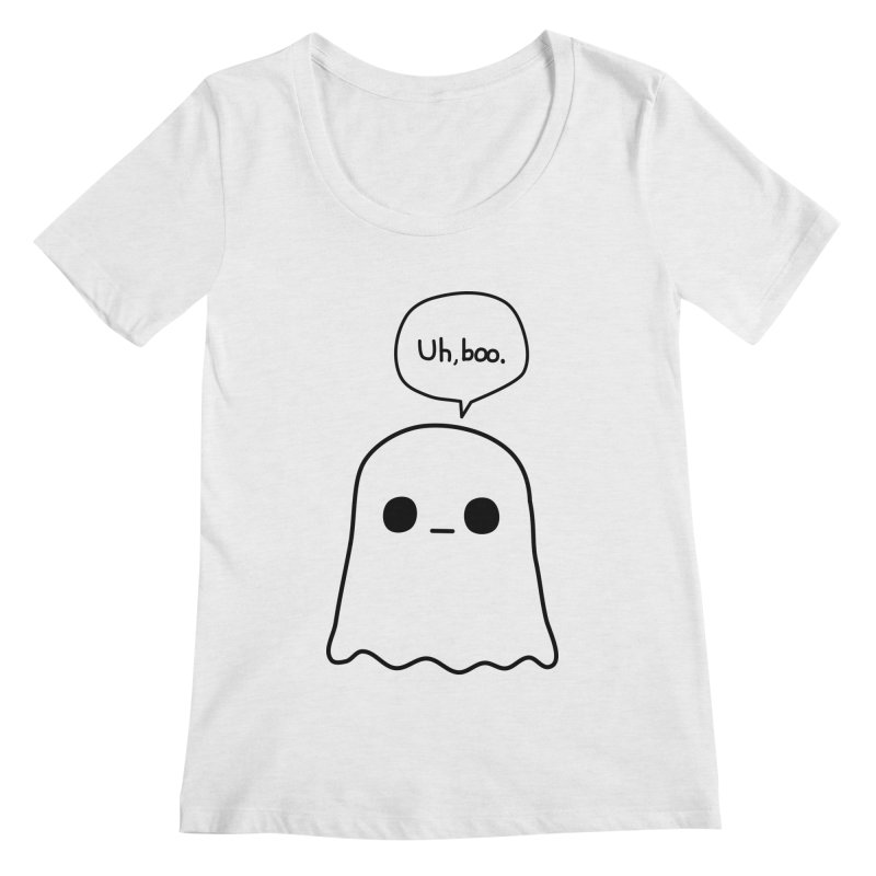 Awkward Ghost Women's Regular Scoop Neck by oneweirddude's Artist Shop