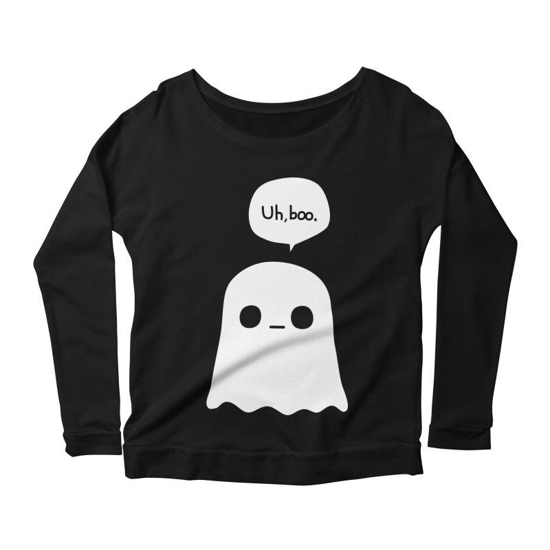 Awkward Ghost Women's Scoop Neck Longsleeve T-Shirt by oneweirddude's Artist Shop