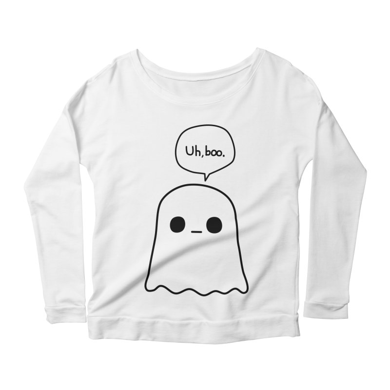 Awkward Ghost Women's Scoop Neck Longsleeve T-Shirt by oneweirddude's Artist Shop
