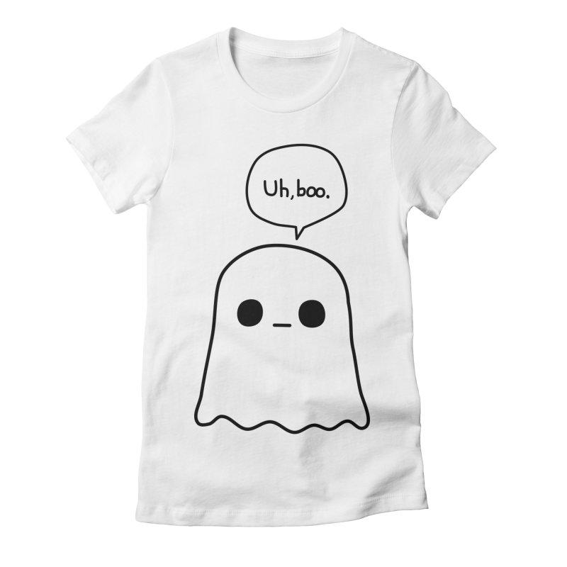 Awkward Ghost Women's Fitted T-Shirt by oneweirddude's Artist Shop