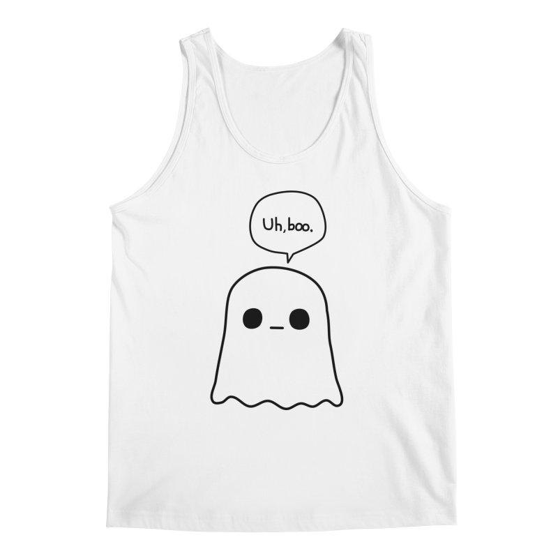 Awkward Ghost Men's Regular Tank by oneweirddude's Artist Shop