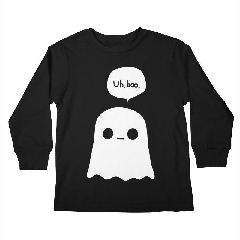 Awkward Ghost Kids Longsleeve T-Shirt by oneweirddude's Artist Shop