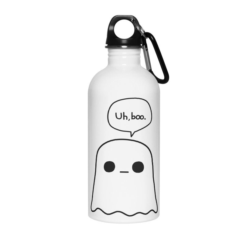 Awkward Ghost Accessories Water Bottle by oneweirddude's Artist Shop