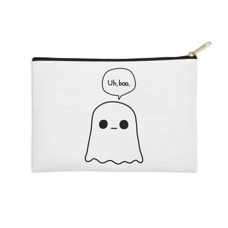 Awkward Ghost Accessories Zip Pouch by oneweirddude's Artist Shop