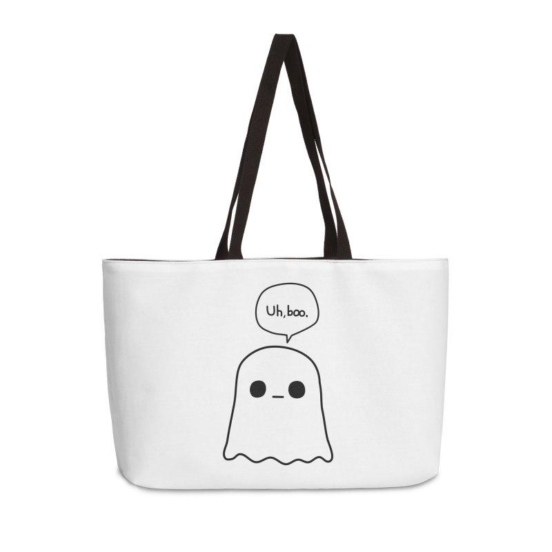 Awkward Ghost Accessories Weekender Bag Bag by oneweirddude's Artist Shop