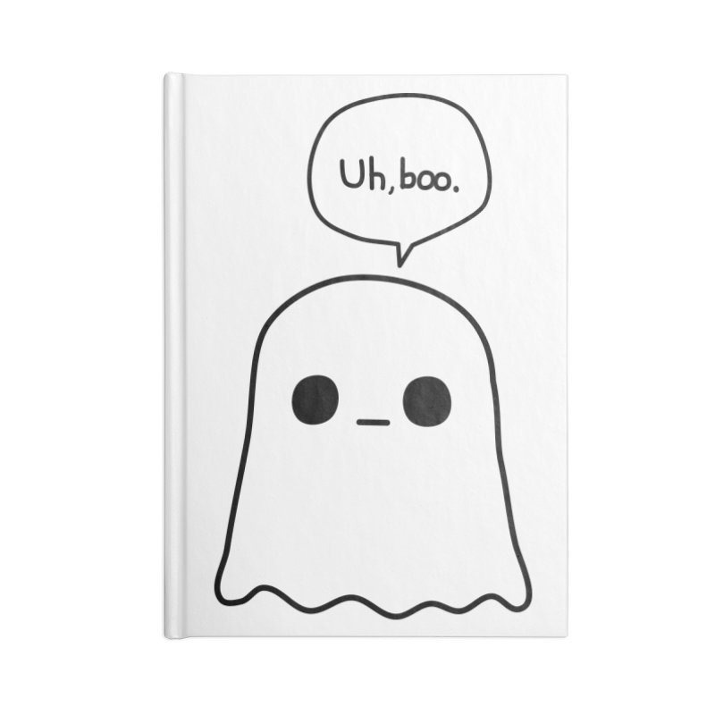 Awkward Ghost Accessories Blank Journal Notebook by oneweirddude's Artist Shop