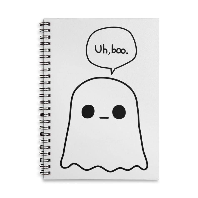 Awkward Ghost Accessories Lined Spiral Notebook by oneweirddude's Artist Shop