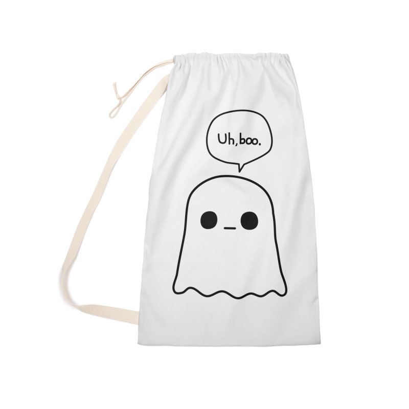 Awkward Ghost Accessories Laundry Bag Bag by oneweirddude's Artist Shop