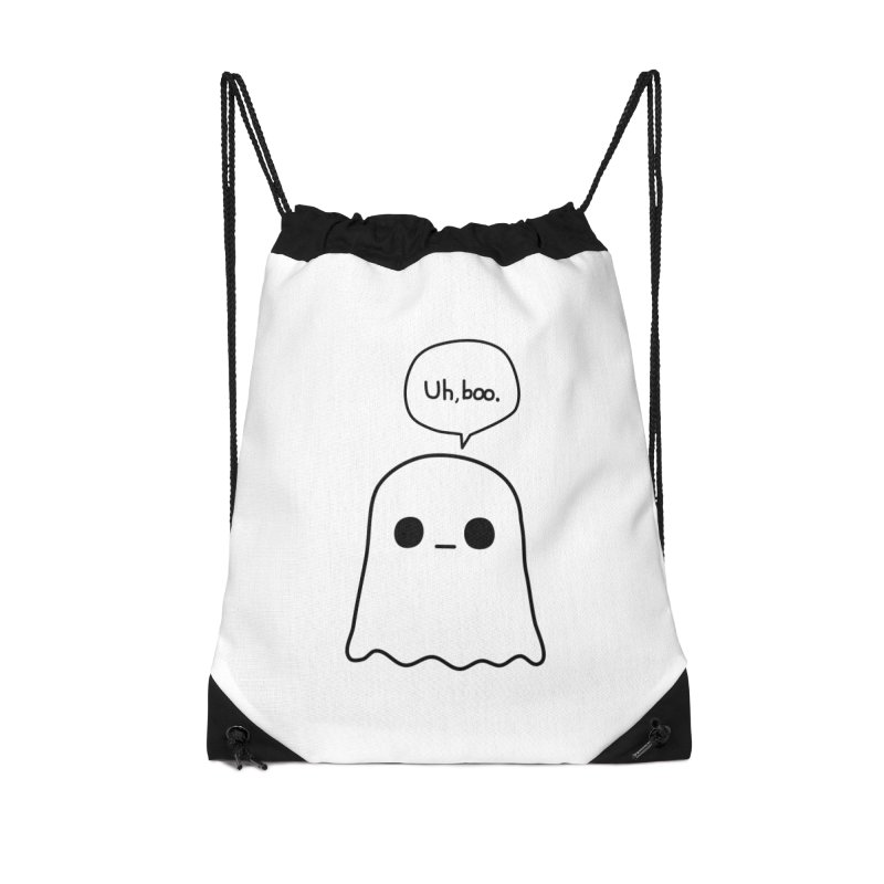 Awkward Ghost Accessories Drawstring Bag Bag by oneweirddude's Artist Shop