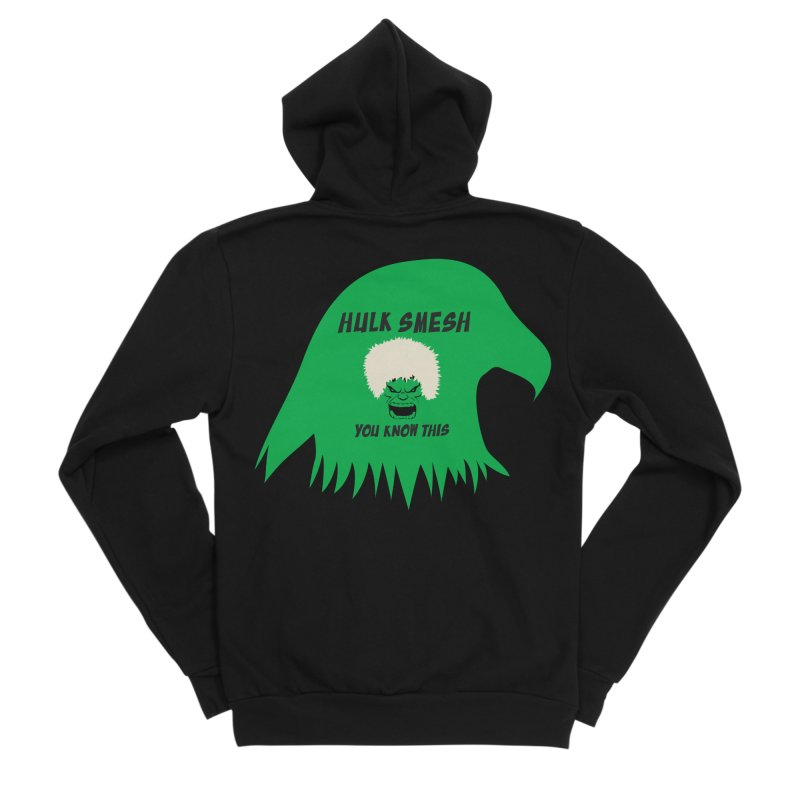 I Smesh, You Know This Men's Sponge Fleece Zip-Up Hoody by oneweirddude's Artist Shop