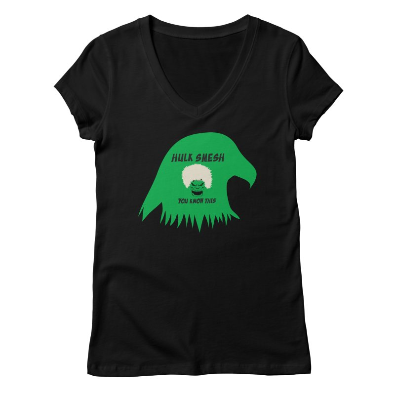 I Smesh, You Know This Women's V-Neck by oneweirddude's Artist Shop