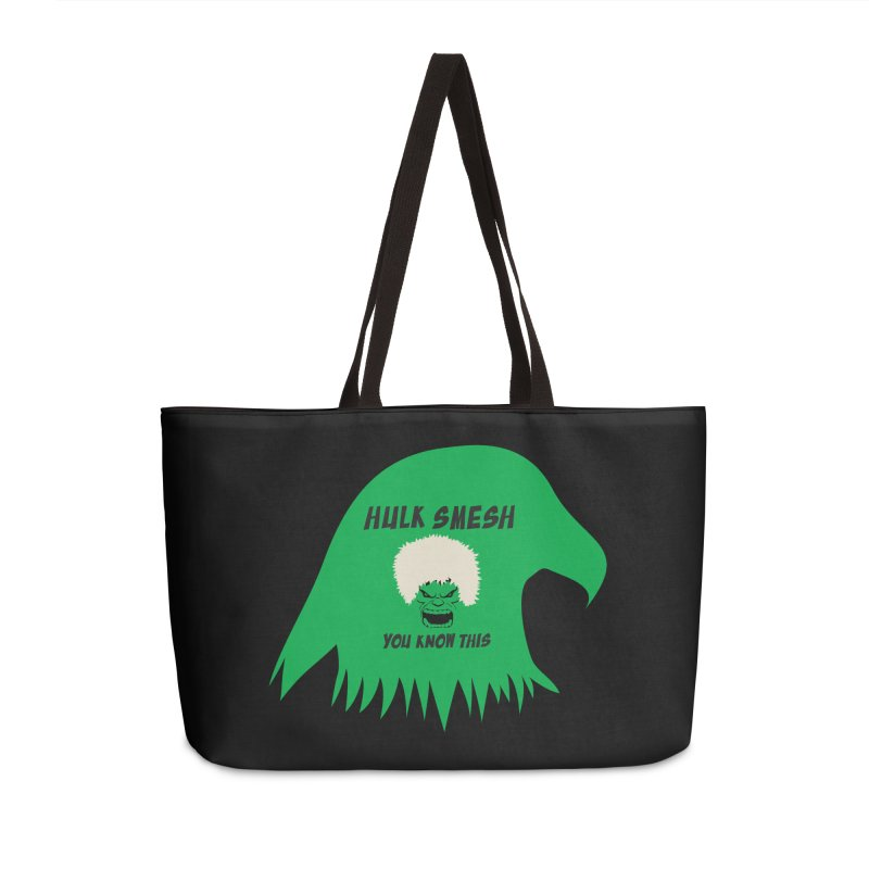 I Smesh, You Know This Accessories Weekender Bag Bag by oneweirddude's Artist Shop