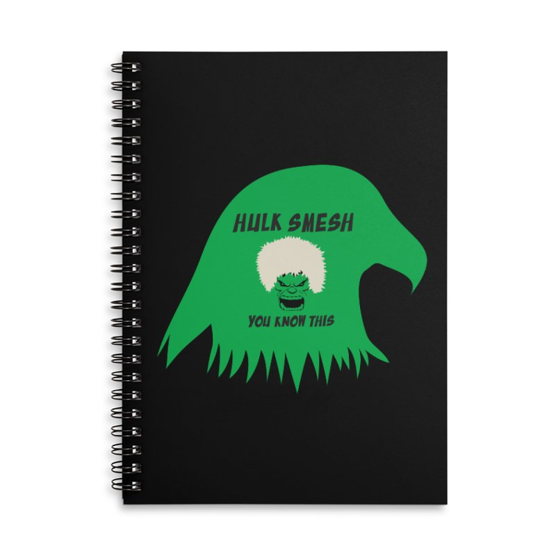 I Smesh, You Know This Accessories Lined Spiral Notebook by oneweirddude's Artist Shop