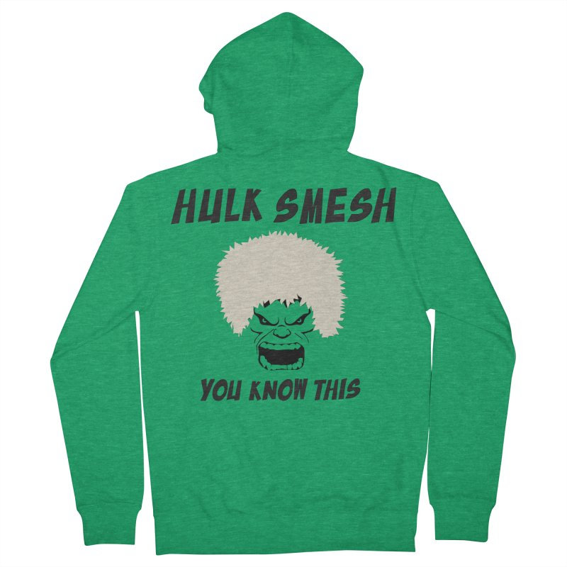 He Will Smesh You Men's French Terry Zip-Up Hoody by oneweirddude's Artist Shop