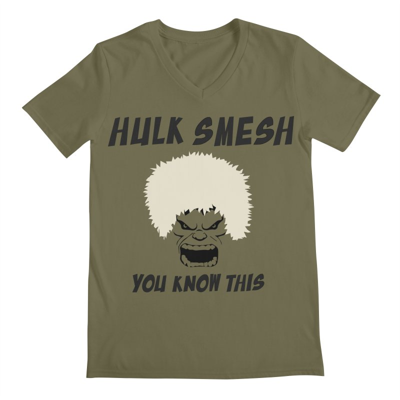 He Will Smesh You Men's Regular V-Neck by oneweirddude's Artist Shop