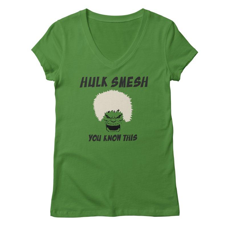 He Will Smesh You Women's Regular V-Neck by oneweirddude's Artist Shop