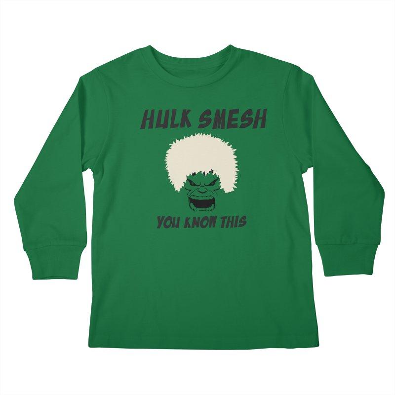 He Will Smesh You Kids Longsleeve T-Shirt by oneweirddude's Artist Shop