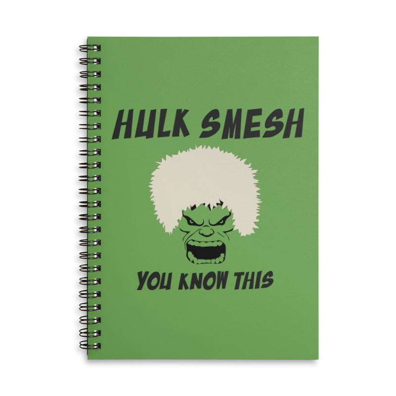 He Will Smesh You Accessories Lined Spiral Notebook by oneweirddude's Artist Shop