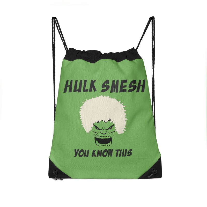 He Will Smesh You Accessories Drawstring Bag Bag by oneweirddude's Artist Shop