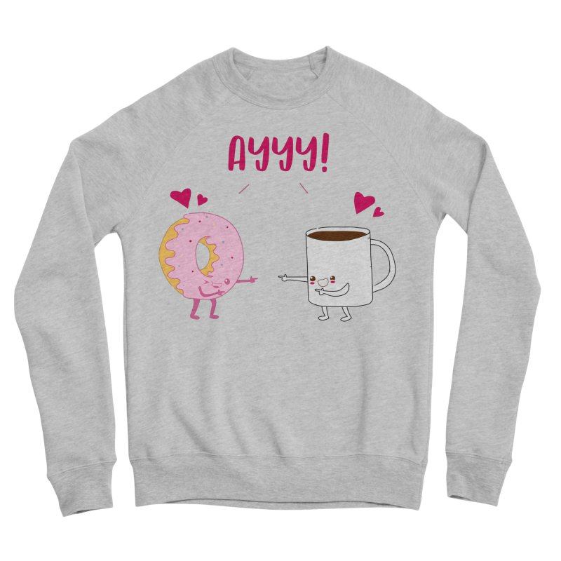 Coffee and Donut Ayyy! Men's Sponge Fleece Sweatshirt by oneweirddude's Artist Shop