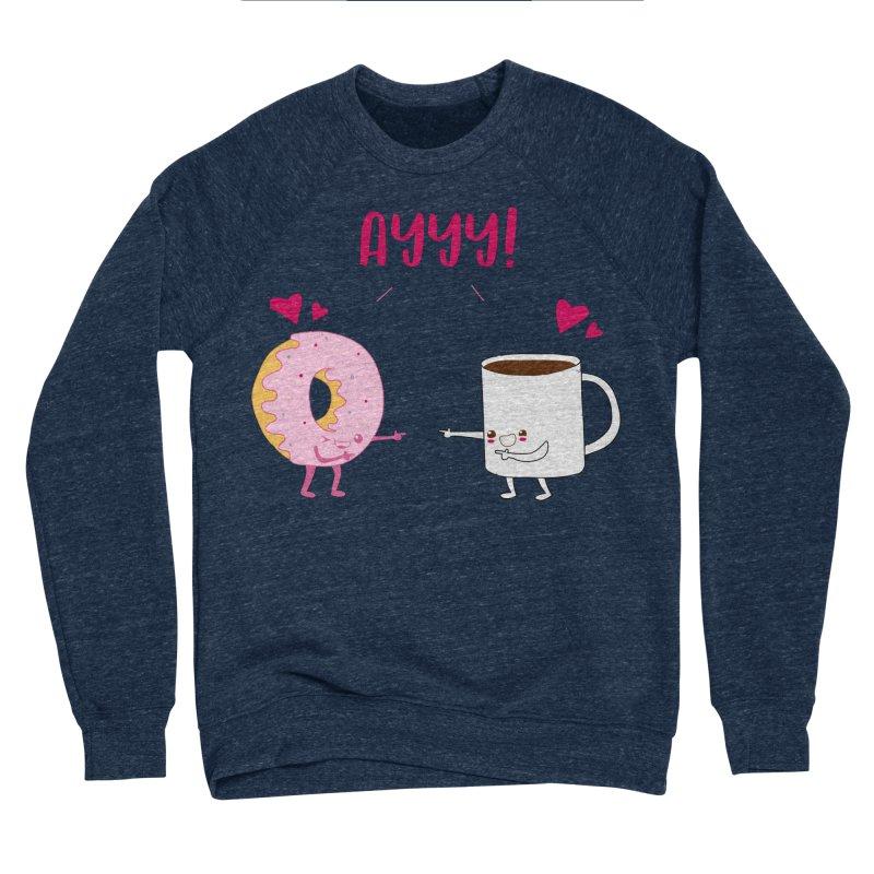 Coffee and Donut Ayyy! Women's Sponge Fleece Sweatshirt by oneweirddude's Artist Shop