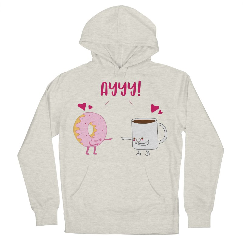 Coffee and Donut Ayyy! Men's French Terry Pullover Hoody by oneweirddude's Artist Shop