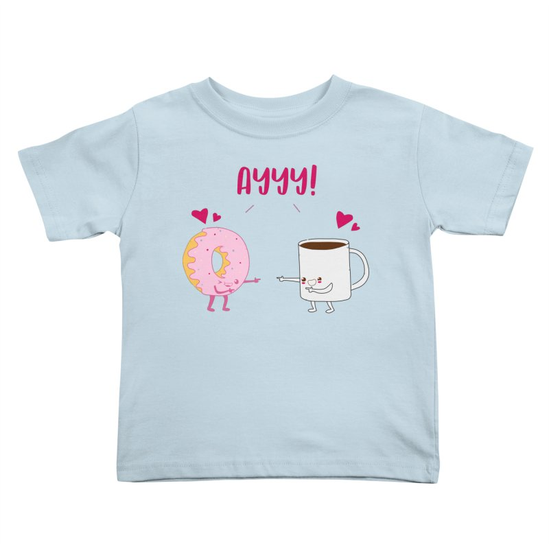 Coffee and Donut Ayyy! Kids Toddler T-Shirt by oneweirddude's Artist Shop