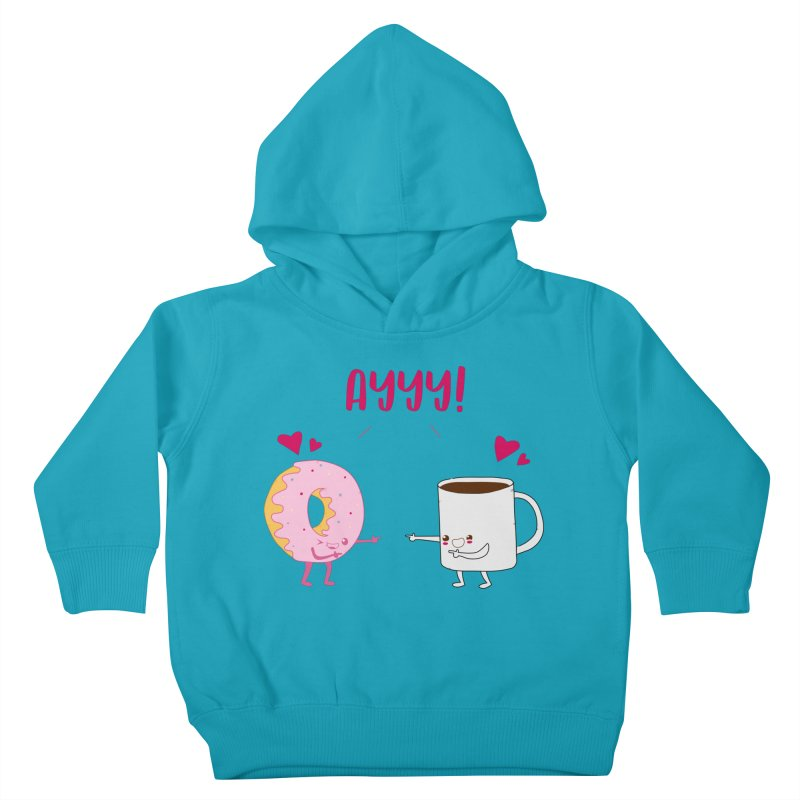 Coffee and Donut Ayyy! Kids Toddler Pullover Hoody by oneweirddude's Artist Shop