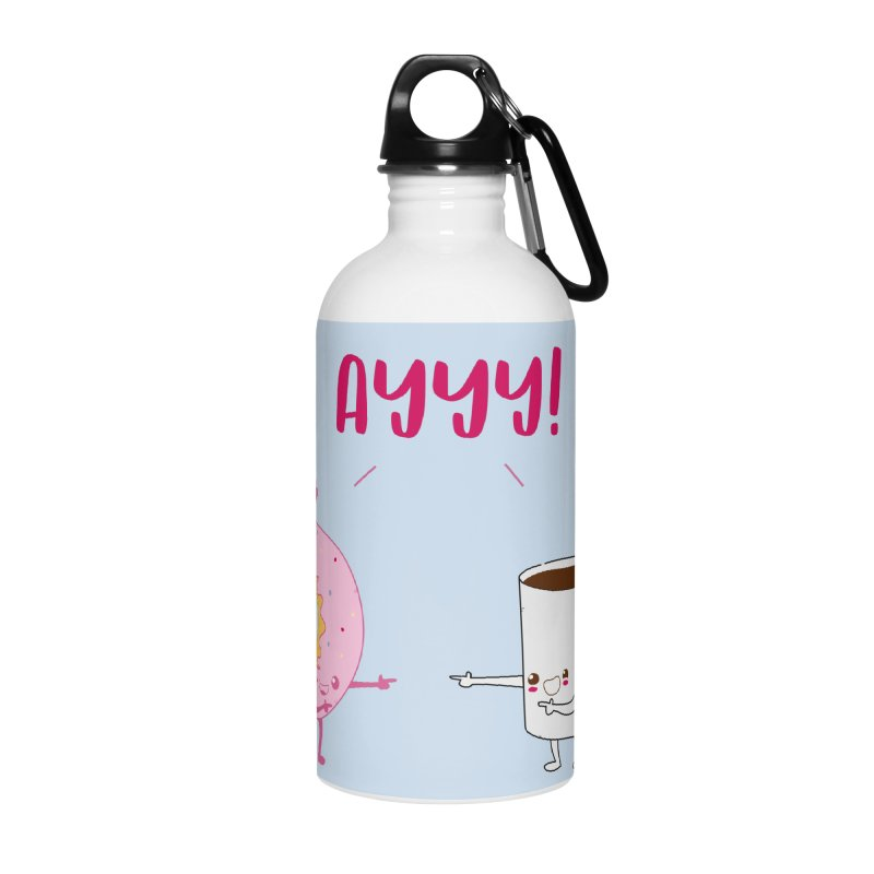 Coffee and Donut Ayyy! Accessories Water Bottle by oneweirddude's Artist Shop