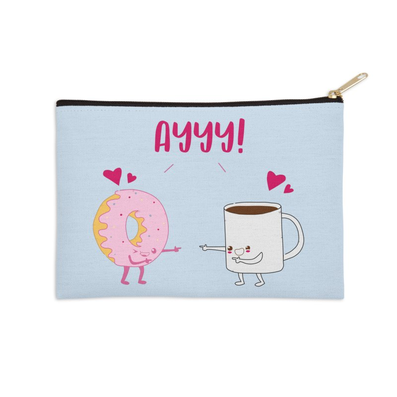 Coffee and Donut Ayyy! Accessories Zip Pouch by oneweirddude's Artist Shop
