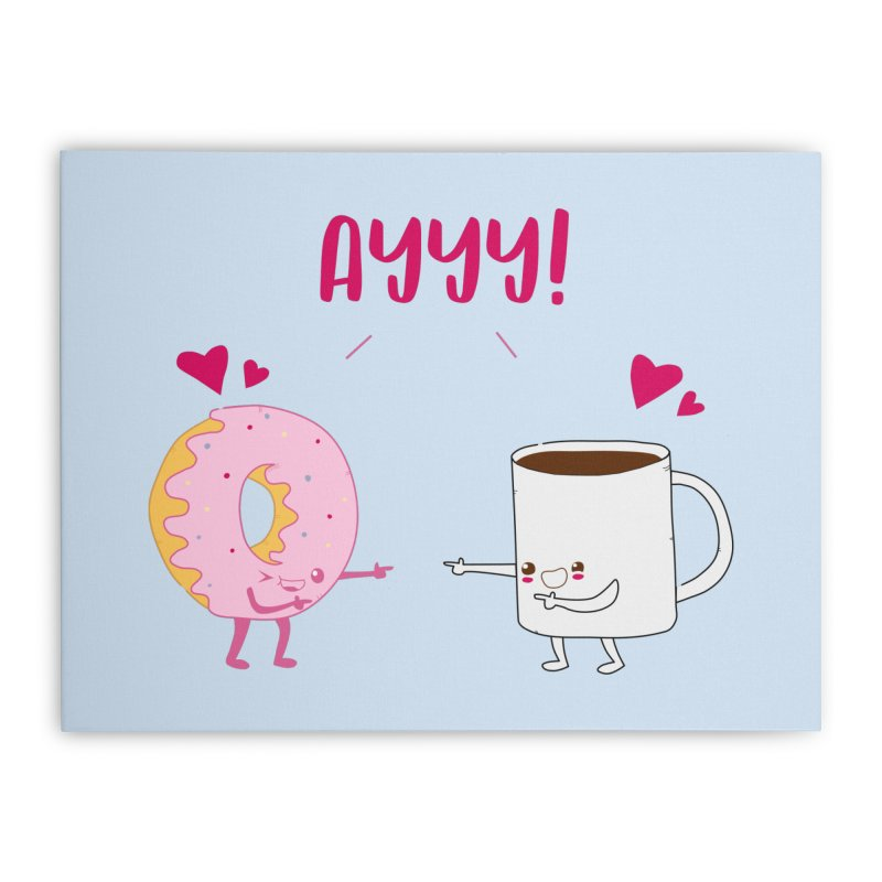 Coffee and Donut Ayyy! Home Stretched Canvas by oneweirddude's Artist Shop