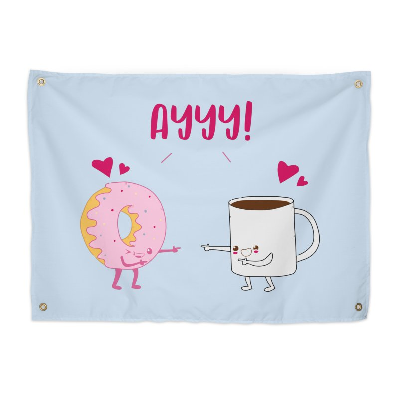 Coffee and Donut Ayyy! Home Tapestry by oneweirddude's Artist Shop