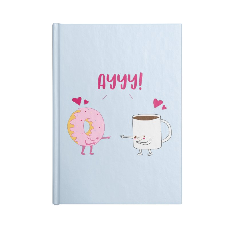 Coffee and Donut Ayyy! Accessories Lined Journal Notebook by oneweirddude's Artist Shop