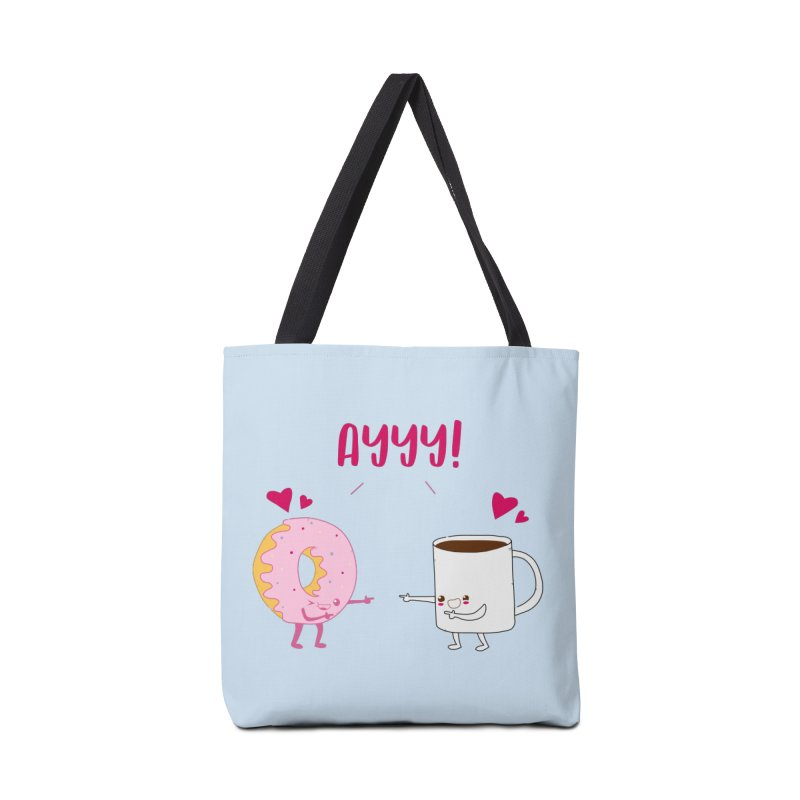 Coffee and Donut Ayyy! Accessories Tote Bag Bag by oneweirddude's Artist Shop