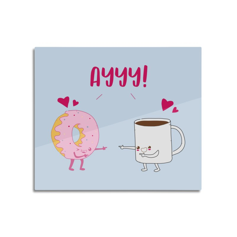 Coffee and Donut Ayyy! Home Mounted Acrylic Print by oneweirddude's Artist Shop