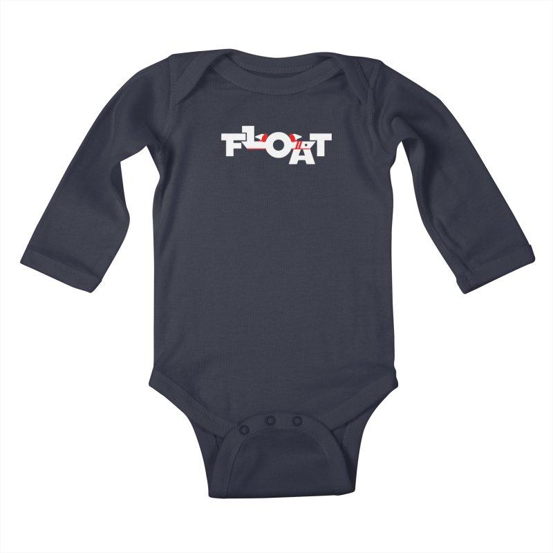 Float - Onewheel - Flight Fins - White and Red Kids Baby Longsleeve Bodysuit by Onewheel Artist Shop