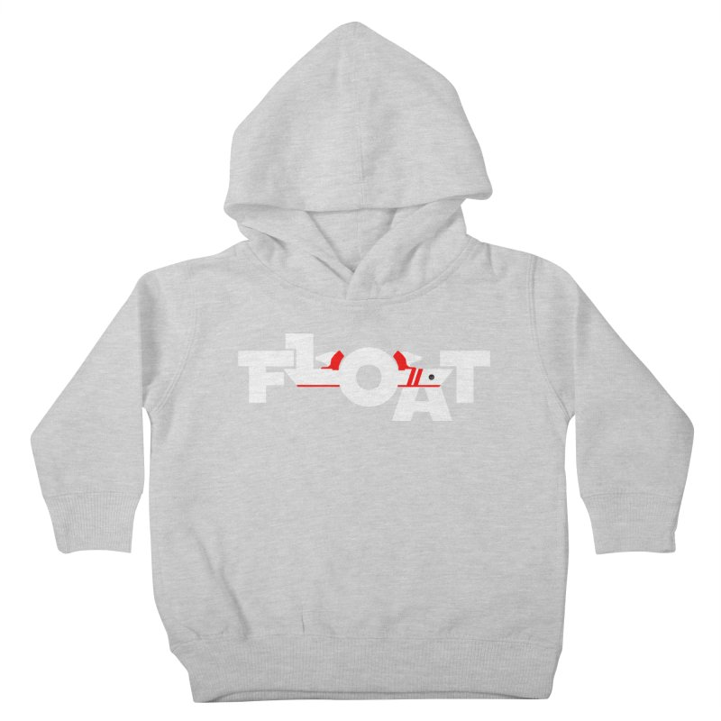 Float - Onewheel - Flight Fins - White and Red Kids Toddler Pullover Hoody by Onewheel Artist Shop