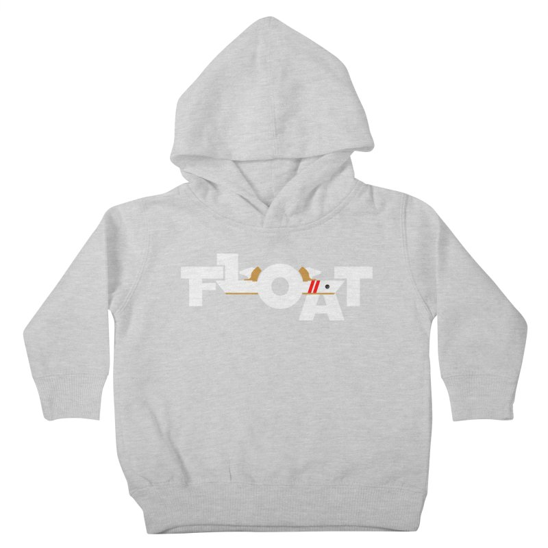 Float - Onewheel - OG White Red Goldy with Flight Fins Kids Toddler Pullover Hoody by Onewheel Artist Shop